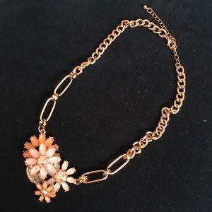 Floral faux gemstone necklace